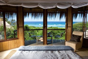 Sea view room at Thonga Beach Lodge