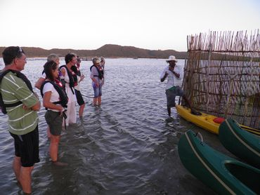 Learning about traditional Thonga fishing techniques
