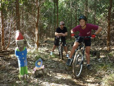 Be sure to give a warm greeting to Howie the Gnome, when you meet him on one of the Howick singletracks