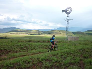 Free-range mountain biking on private farms – access negotiated.