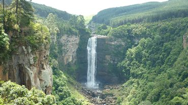 The spectacular Karkloof Waterfall